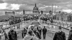 Kodak Moment : ) (Gordon McCallum) Tags: london england kodakmoment milleniumbridge stpaulscathedral riverthames tourists touristattraction touristsight blackandwhite sony sonya6000 sigma30mmlens