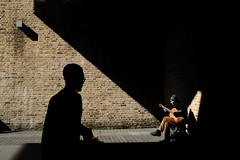(samrodgers2) Tags: londonstreetphotography londonlightandshade lightandshade busker southbank london street photography