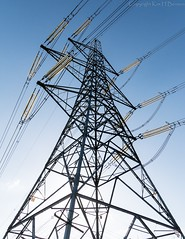 Standing tall (kimbenson45) Tags: angle blue cables electric electricity lines metal metallic pattern pylon structure wideangle wires