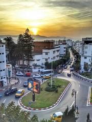 Magical Afternoon (Yassine Abbadi) Tags: sunset sun cloud afternoon tree building road car cab taxi crossroad ad tetouan tetuan maroc morocco