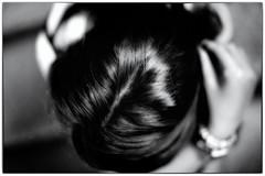 Femme (una cierta mirada) Tags: femme hair head portrait hand bnw blackandwhite woman