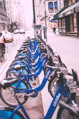 Citi Bikes (Jon Cartledge) Tags: adorama citibike citi bike share nyc new york city smooth warm contrast shadow toning dreamy pastel vignetting epson rd1 rd1s seiko leica rangefinder leicam range finder konica minolta mrokkor 40mm f2 colour street people