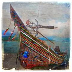 Traditional Painted Boat (ulli_p) Tags: asia art artofimages amazingcolours aworkofart awardtree boat boats colours flickraward kohsamui koh samui likeapainting southeastasia thailand texture textured texturedphoto