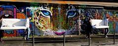 déménagement (YOUGUIE) Tags: paris streetart graff graffiti marko93 animaux tigre guepard déménagement canapé