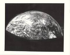 aer_v_bw_o_n (original 1954/1955 Navy photo, USN-668360) (apollo_4ever) Tags: suborbital photomosaic 5october1954 tropicaldepression hurricanefromspace hurricane aerobee glossyphoto spacehistory earthscurvature earthslimb earthfromspace aerobeerocket aerobeesoundingrocket