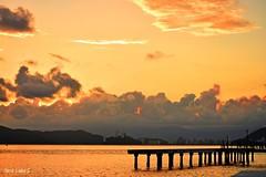 Sunset at Fisherman's Deck (Maria Luiza S) Tags: deck pier sunset sundow clouds sea ocean