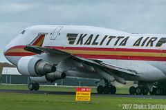 Kalitta Air l N743CK l Boeing 747-446-BCF (Chuks Spotting - Aviation Photography) Tags: kalittaair n743ck boeing747446bcf k4927 bahrain bah amsterdam schiphol airport ehamams closeup