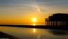 Scheveningen Beach Pier (ariejanD) Tags: sea sand skycloudssun sunset scheveningen