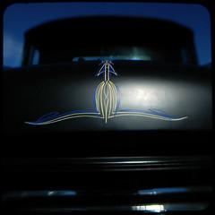 Darkness (rustman) Tags: lsru texascarculture atx austin austintx lonestarroundup satin black pinstripe hotrod throughtheviewfinder istd duaflex2 square saturated colorful
