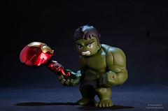 Batter Up (PowerPee) Tags: marvel hulk cosbaby ironman hulkbuster tonystark toyphotography photoygraphy hottoys