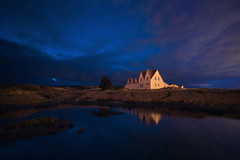 secluded (Andy Kennelly) Tags: secluded iceland reflection blue hour night nightphotography reykjavik