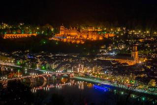 Heidelberg bei Nacht - Heidelberg at night