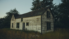 Stranger (Chris Lakoduk) Tags: stranger abandoned home house building homestead condemned lonely sad dark somber scary spooky haunted reeds grass trees cold derelict scenery landscape architect