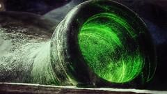 Collo di bottiglia (Livio Saule) Tags: bottiglia vetro creativo verde colore colors grunge arte