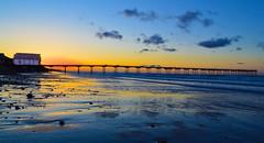 saltburn sunset 2 (stephencuthbert) Tags: saltburm sunset photgraphy sun skies beautiful uk pier beach seaside