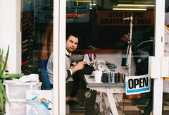 Untitled (YSida) Tags: street analogue analog film nikon colour candid 35mm 50mm poundland agfa oxford cowley people