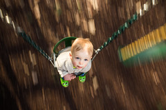 102| 365 (trois petits oiseaux) Tags: 365 kids motion childhood swing baby panning