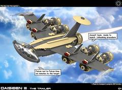 Dai Trailer 01 (messerneogeo) Tags: messerneogeo robot mech mecha lego spaceship aldebaran daiseen trailer