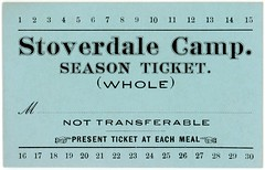 Stoverdale Camp, Season Meal Ticket, 1932 (Alan Mays) Tags: ephemera tickets mealtickets punchtickets seasontickets religiousephemera paper printed stoverdalecamp stoverdalecampmeeting camps campmeetings campgrounds meals manicule manicules hands fists pointing fillintheblanks borders blue stoverdale pa dauphincounty pennsylvania 1932 1930s antique old vintage typefaces type typography fonts