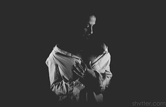 Untitled (#Weybridge Photographer) Tags: hot beautiful sexy cute model female woman lady girl studio pose posed adobe lightroom canon eos dslr slr 5d mk ii mkii low key contrast black background