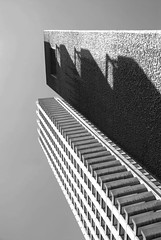 Shakespeare Tower, The Barbican, London (neil mp) Tags: london easter barbican barbicanestate monochrome blackandwhite modernism modernmovement brutalism concrete chamberlinpowellbon shakespearetower contrast shadow