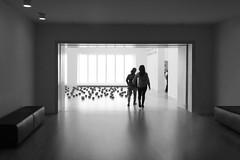 People in the Museum - (keinidyll) Tags: nrw museum k20 entrance bw people düsseldorf