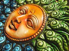 Sun LIGHT & Glaze - MM- Theme - Glaze (LOVE.OVER.LUST.) Tags: mm macromondays glaze hmm clay sun sol wallhanging decorative showpiece faith sunbaked handpainted artwork handicraft colorful