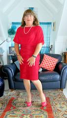 Red (Trixy Deans) Tags: crossdresser cd cute crossdressing crossdress classic classy cocktaildress xdresser sexy sexytransvestite sexyheels sexylegs sexyblonde tgirl tv transvestite transgendered transsexual tranny trixydeans tgirls transvesite trixy tg