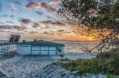 Tramonto sul Mare La Conchiglia (antoniosimula) Tags: sun sole spiaggia beach allaperto tramonto sunset nikon d3200 sigma lungaesposizione sardegna alghero cloud cielo sky nuovolo nuvole