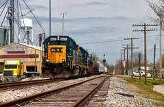 """Blocking"" Town (Wheelnrail) Tags: csx csxt locomotive train trains loco railroad rail road emd cpl color position light gp402 indiana subdivision j780 bo st louis line"