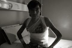 Burned homeless (alberplatz) Tags: burn homeless city mendoza argentina indigente sin hogar stupid white black bw