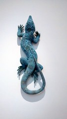 Slash, 2011 (paidetres) Tags: margate turnercontemporary joanavaseoncelos lizard blue entangled