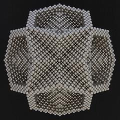Compound of Four Hollow Hexagonal Prisms (Mathnetism) Tags: neodymium zen magnets compound four hollow hexagonal prism