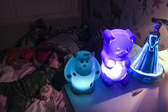 Nightlights (evaxebra) Tags: luna nightlight night light sully gummy bear elsa gummybear blue purple nightlights
