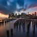 Moods of Manhattan (blame_the_monkey) Tags: 23mm elialocardi fujifilm gfx50s newyork wwwelialocardicom manhattan long exposure brooklyn pylons