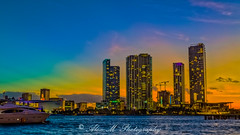 Sunset from Watson Island (The Happy Traveller) Tags: sunrisesunset sunset miami miamiskyline miamidade cityscapes florida