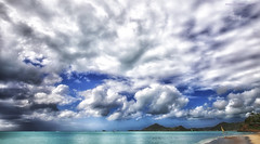 L'isola del tesoro (Gio_guarda_le_stelle) Tags: antigua seascape sky clouds blue beach island summer sail wind landscape sand caribbean caraibi caribe c