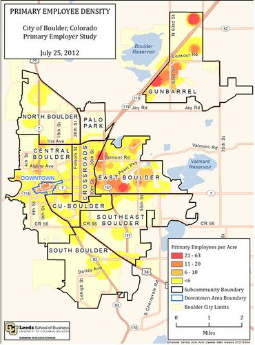 Photo - Primary Employer Study: Primary Employee Density Map