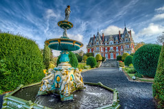Chateau Impney (tommyscapes) Tags: light sky color colour building water fountain architecture clouds photoshop garden landscape hotel landscapes historic hedge tips processing chateau range hdr photomatix nikcolorefexpro impney topazadjust tentoptipsforhdrlandscapes