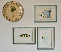 Tempo dos peixes (Mrcia Valle) Tags: brazil minasgerais art brasil watercolor arte paintings peinture decor fishes decorao brasile parede pinturas peixes brsil aquarela artdesign juizdefora pittura paredewall cornersofmyhome mrciavalle arredamemnto