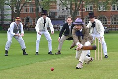 2013-05-29: Prochronistic Shot (149/365) (psyxjaw) Tags: game london book victorian cricket 150 match launch pimlico authors guid wisden londonist vincentsquare authorsxi