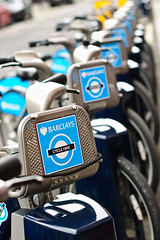 Cycle Hire (Tomas Burian) Tags: street uk england urban london english bike bicycle closeup catchycolors 50mm prime nikon unitedkingdom britain kingdom scene tourist cycle gb british colourful typical nikkor hire barclays londonist candemtown d90 nikkor50mm14 2013 nikond90