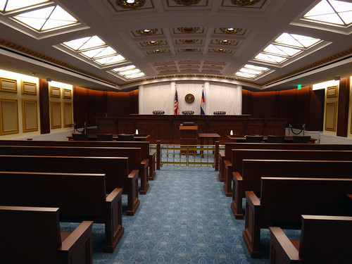 Colorado Court of Appeals courtroom.