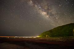 台東小旅遊 (meiji4fun4life) Tags: 星星 星空 火車 海邊 河堤 金崙 銀河 一田屋