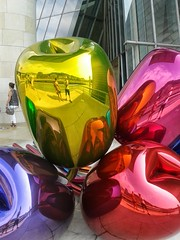 More Tulips (Lanzen) Tags: selfportrait reflection art colours metallic bilbao guggenheim reflexion scultpure jeffkoons