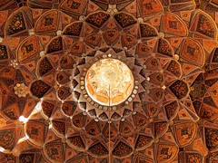 Beautiful Muslim architecture ceiling (German Vogel) Tags: travel tourism beautiful circle design asia iran geometry mosaic decoration middleeast palace symmetry ceiling silkroad bookcover isfahan muslimculture hashtbehesht islamicrepublic westasia iranianculture facebookcover gettyimagesmiddleeast