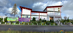 HDR Panorama (sandeep thukral) Tags: blue red asian restaurant hdr buiten tang almere panorana almerebuiten