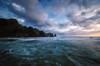 Jagged Edge (Nick Twyford) Tags: sunset sea newzealand seascape clouds nikon waves wideangle auckland westcoast lastlight bethellsbeach leefilters 1024mm d7000 raeakiakipoint lee09nd phottixgeoone momoripoint lee12gndsoft