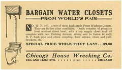Bargain Water Closets from the St. Louis World's Fair (1904): Front Washout Closets (Alan Mays) Tags: ephemera slips printedslips handbills leaflets notices fliers flyers circulars advertising advertisements ads paper printed toilets waterclosets frontwashoutclosets hopperclosets fixtures bowls flushingdevices bargains chicagohousewreckingcompany chicagohousewrecking wreckingcompanies chicago il ill illinois stlouisworldsfair louisianapurchaseexposition worldsfairs fairs expositions illustrations stlouis mo missouri 1904 1900s antique old vintage typefaces type typography fonts