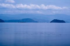 Chikubu island (Takashi(aes256)) Tags: longexposure lake japan island shiga biwa biwalake  imazu    takashima chikubu    shigaprefecture  chikubuisland nikonafsnikkor70200mmf28gedvrii nikond5200